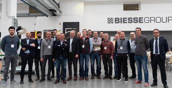 Erwin Hymer visiting the Biesse Campus in Pesaro