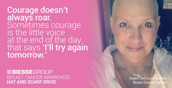 Biesse Group North America Hat and Scarf Drive for Breast Cancer Awareness