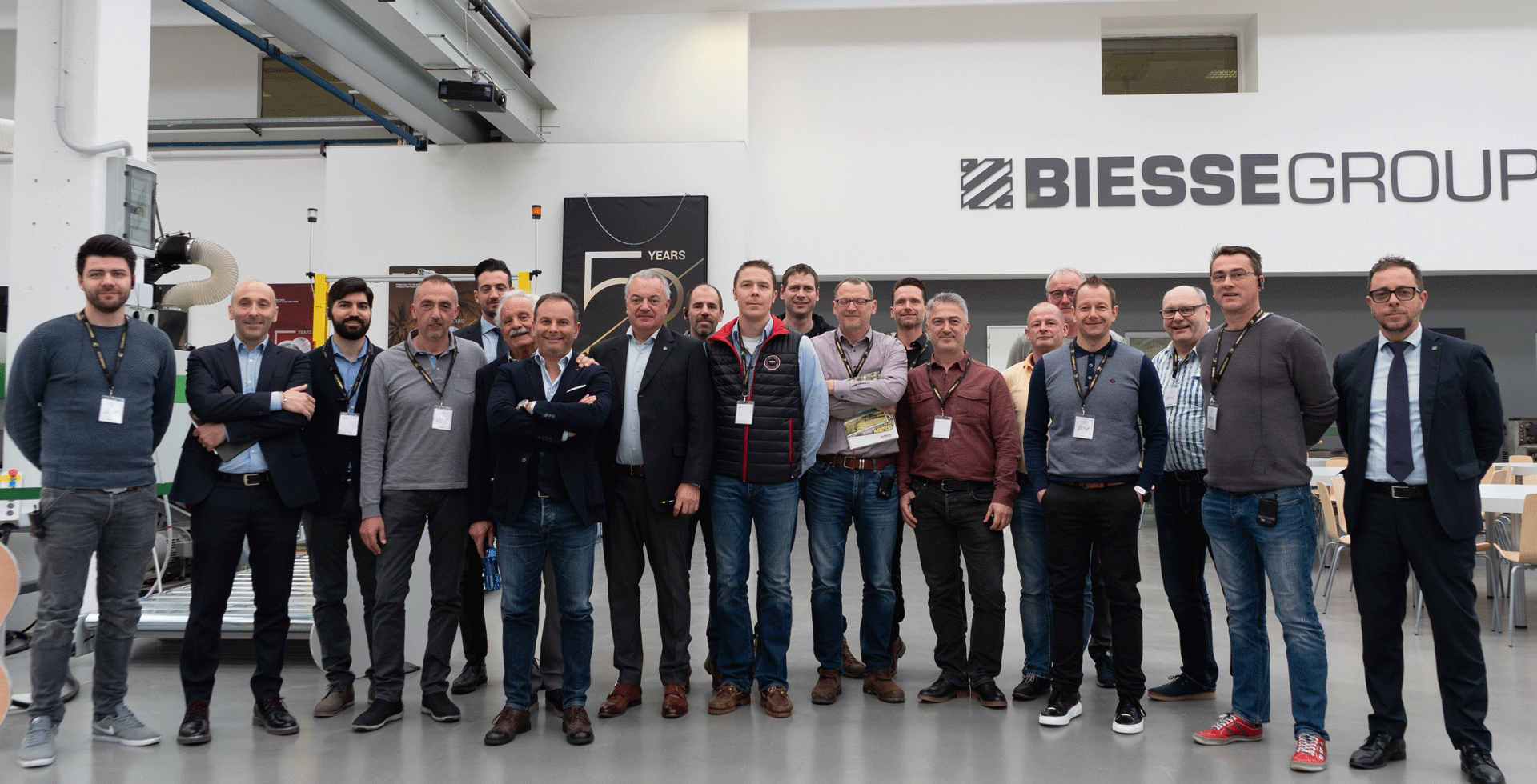 Erwin Hymer visiting the Biesse Campus in Pesaro