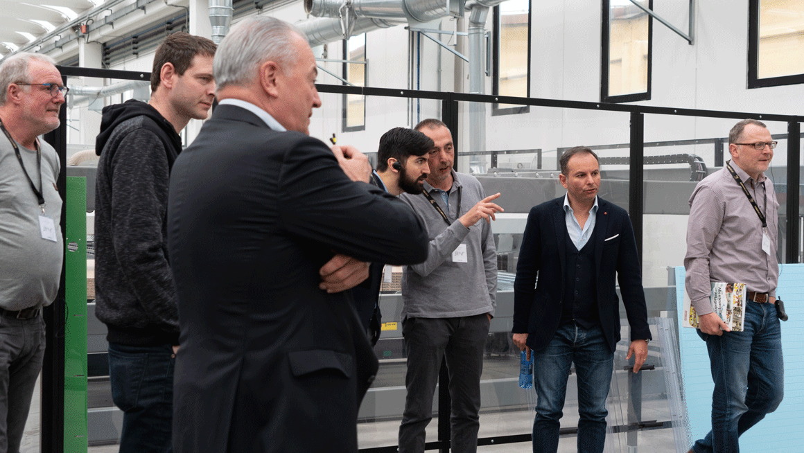 Erwin Hymer visiting the Biesse Campus in Pesaro: Photo 4