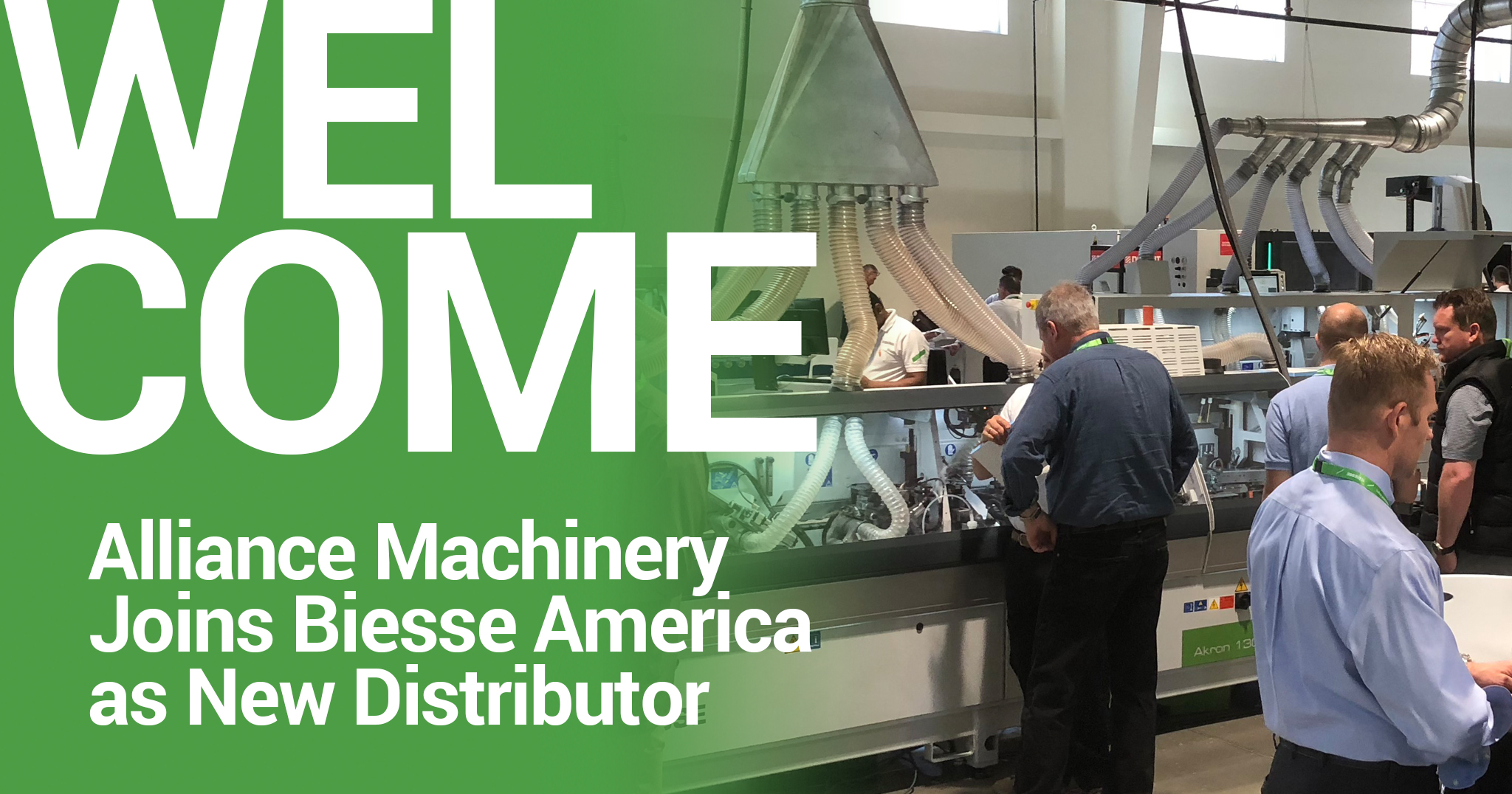 Biesse America Welcomes Alliance Machinery as new Distributor