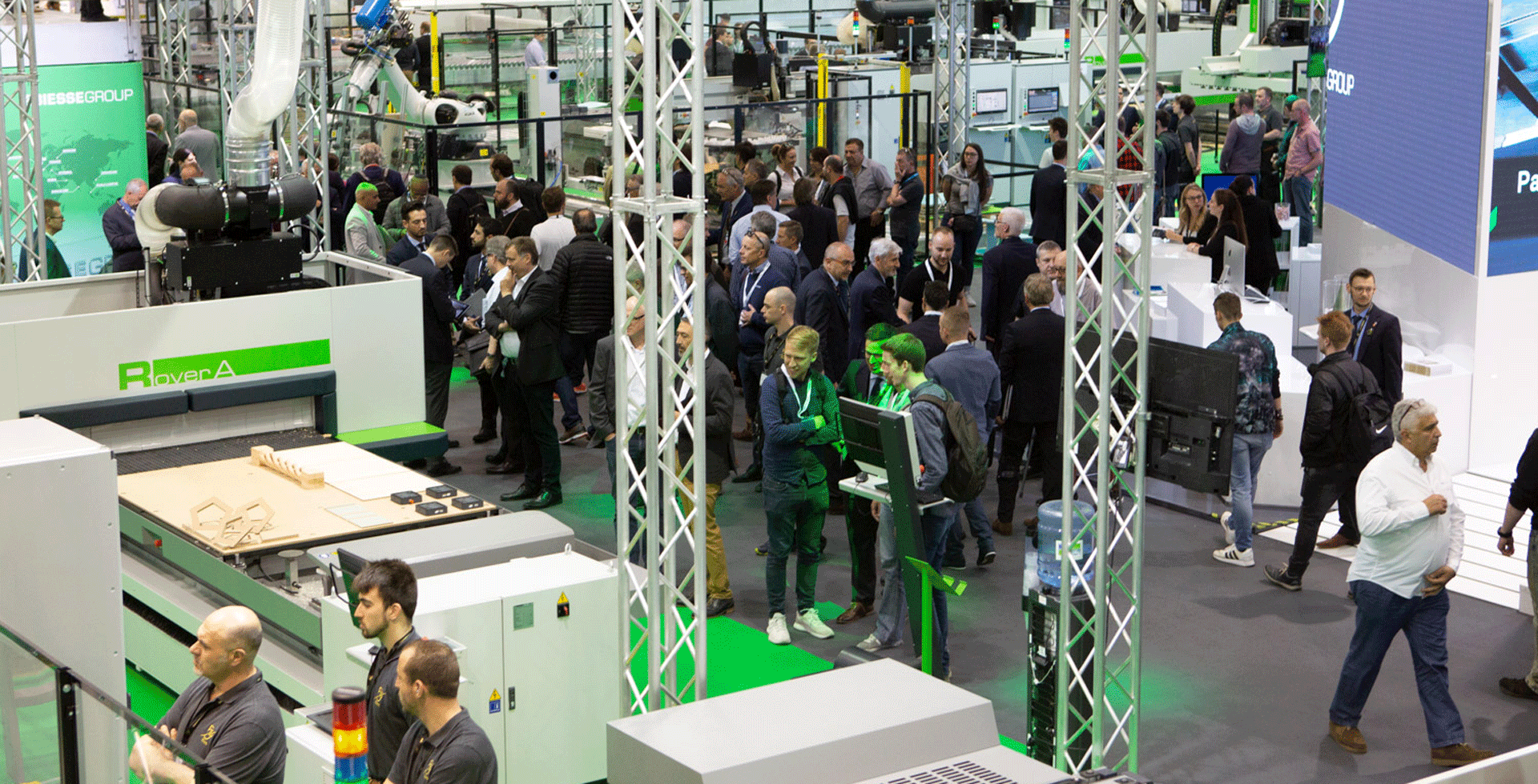 Biesse at Ligna along with our Partners in Automaction, guiding the digital age.