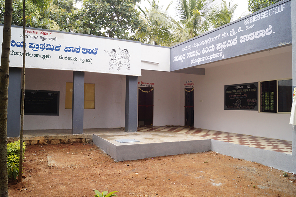 Biesse India has constructed a School at Honnagangayanapalya.