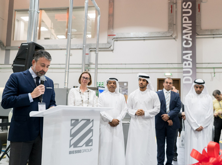 Biesse Middle East opens the new Campus, a technology and training centre, in Dubai